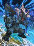 2015 image_sample official_art palkia pokemon pokemon_(creature) pokemon_(game) pokemon_trading_card_game saitou_naoki trading_card twitter_sample watermark zekrom