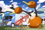 2015 doduo downscaled md5_mismatch official_art pokemon pokemon_(creature) pokemon_(game) pokemon_trading_card_game resized saitou_naoki trading_card watermark