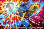 2015 lucario official_art pokemon pokemon_(creature) pokemon_(game) pokemon_trading_card_game saitou_naoki trading_card watermark