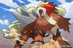 2016 downscaled entei md5_mismatch no_humans official_art pokemon pokemon_(creature) pokemon_(game) pokemon_trading_card_game resized saitou_naoki solo trading_card watermark