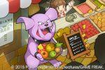 1girl 2015 granbull image_sample official_art pokemon pokemon_(creature) pokemon_(game) pokemon_trading_card_game saitou_naoki stunky trading_card twitter_sample watermark