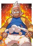 2016 hala_(pokemon) official_art pokemon pokemon_(game) pokemon_sm pokemon_trading_card_game saitou_naoki trading_card watermark