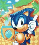 1991 1boy 90s animal hedgehog highres jewelry no_humans official_art ring sega solo_focus sonic sonic_the_hedgehog