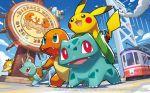 2016 altaria bulbasaur charmander krabby official_art pikachu pokemon pokemon_(creature) pokemon_(game) pokemon_trading_card_game psyduck saitou_naoki squirtle trading_card watermark wingull