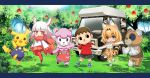 1boy 2girls :3 :d actas_(studio) alpaca animal animal_ears animal_girl apple bandage bear black_eyes black_hair blonde_hair boko_(girls_und_panzer) broadcaster_connection bushiroad car character_request chibi commentary_request creatures_(company) crossover doubutsu_no_mori elbow_gloves flying food forest fruit fur_collar game_freak gen_1_pokemon gijinka girls_und_panzer gloves gradient_hair ground_vehicle hand_holding head_wings highres human japanese_crested_ibis_(kemono_friends) kadokawa_shoten kemono_friends lisa_(doubutsu_no_mori) long_hair looking_at_viewer machi_e_ikou_yo:_doubutsu_no_mori media_factory motor_vehicle mouse multicolored_hair multiple_crossover multiple_girls nature nexon nintendo nintendo_ead nyoronyoro oideyo!_doubutsu_no_mori olm_digital open_mouth pantyhose personification pikachu pleated_skirt pokemon pokemon_(anime) pokemon_(creature) pokemon_(game) red_legwear serval_(kemono_friends) serval_ears serval_print serval_tail sheep short_hair skirt smile suspenders tail teddy_bear thigh-highs tobidase:_doubutsu_no_mori tokyo_mx tomason_(studio) tree tv_channel_connection tv_tokyo villager_(doubutsu_no_mori) white_hair yaoyorozu_(studio) yellow_eyes zettai_ryouiki