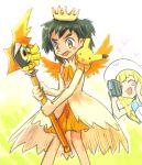 blush camera crossdressing heart lillie_(pokemon) pikachu pokemon pokemon_(anime) pokemon_(game) pokemon_sm pokemon_sm_(anime) satoshi_(pokemon) tapu_koko