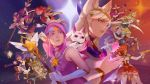 1boy 6+girls ahri animal_ears blonde_hair blue_eyes blue_hair boots bow circlet dual_wielding ezreal fox_ears green_hair gun hair_ornament hammer heart_hair_ornament horn janna_windforce jinx_(league_of_legends) league_of_legends light_brown_hair long_hair lulu_(league_of_legends) luxanna_crownguard magical_girl multicolored_hair multiple_girls official_art pink_hair pointy_ears ponytail poppy purple_hair red_eyes redhead sarah_fortune skirt soraka staff star star_guardian_ahri star_guardian_ezreal star_guardian_janna star_guardian_jinx star_guardian_lulu star_guardian_lux star_guardian_miss_fortune star_guardian_poppy star_guardian_soraka star_guardian_syndra syndra thigh-highs thigh_boots tiara twintails two-tone_hair violet_eyes weapon wings