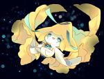 :3 :d blue_background blue_eyes commentary_request eyelashes floating full_body jirachi nekotorina no_humans open_mouth pokemon pokemon_(creature) smile solo third_eye