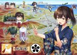 4girls a5m akagi_(kantai_collection) alternate_costume architecture blush boots brown_hair chibi cityscape crab day east_asian_architecture f-15_eagle giantess grey_hair headband highres ichikawa_feesu japanese_clothes kaga_(kantai_collection) kantai_collection kimono map microphone mountain multiple_girls muneate nude ocean onsen open_mouth pleated_skirt red_skirt river road shore shoukaku_(kantai_collection) side_ponytail silver_hair skirt sky statue straight_hair temple thigh-highs thigh_boots translation_request twintails zuikaku_(kantai_collection)