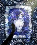 androgynous blue_hair cairngorm_(houseki_no_kuni) head houseki_no_kuni lapis_lazuli_(houseki_no_kuni) long_hair micho spoilers white_skin