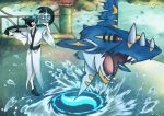 black_hair giima_(pokemon) mega_sharpedo pokemon pokemon_(game) pokemon_sm sharpedo