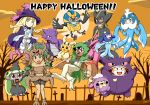 alolan_marowak alolan_vulpix gouguru halloween kaki_(pokemon) lillie_(pokemon) mamane_(pokemon) mao_(pokemon) pikachu pokemon pokemon_(anime) pokemon_sm_(anime) popplio satoshi_(pokemon) steenee suiren_(pokemon) togedemaru vulpix