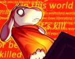 1boy anadapta asriel_dreemurr comic crazy_eyes english madness_mantra red_background spoilers surprised undertale what_if