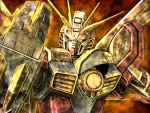 g_gundam god_gundam gundam lowres mecha no_humans solo tro