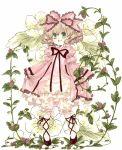 bloomers bow dress drill_hair flower green_eyes hair_bow hina_ichigo hisa rozen_maiden smile