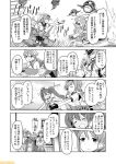 6+girls bikini braid breasts chou-10cm-hou-chan_(teruzuki's) cleavage comic commentary cross dress glasses gloves graf_zeppelin_(kantai_collection) greyscale hachimaki hat headband italia_(kantai_collection) jacket kantai_collection large_breasts libeccio_(kantai_collection) littorio_(kantai_collection) mizumoto_tadashi monochrome multiple_girls necktie non-human_admiral_(kantai_collection) peaked_cap pola_(kantai_collection) roma_(kantai_collection) school_uniform seaport_summer_hime serafuku straw_hat swimsuit teruzuki_(kantai_collection) translation_request twin_braids twintails white_dress white_hat zara_(kantai_collection)