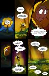 comic crying english field flower flower_field flowey_(undertale) lynxgriffin no_humans spoilers undertale