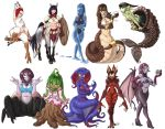 6+girls armlet bat_ears bat_girl black_hair black_sclera blue_hair blue_skin bracelet breastplate breasts carapace cat's_cradle centaur claws cleavage collage commentary competition_swimsuit compilation cup dalehan dark_skin demon_girl demon_wings drinking_glass dryad extra_eyes faulds full_body goggles goo_girl green_hair green_skin hair_over_one_eye harpy head_fins headdress holding holding_weapon insect_girl jewelry lamia large_breasts loincloth long_legs mermaid midriff monster_girl multiple_girls navel no_pupils nude one-piece_swimsuit original pale_skin pantyhose pauldrons plant_girl polearm purple_hair purple_skin red_eyes redhead rooster_comb scales scylla shell shell_bikini shield slime_girl smile spear spider_girl strapless succubus swimsuit tail tail_ornament talons tentacle two-tone_skin weapon wine_glass wings yellow_eyes