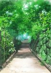 commentary_request day fence grass hirota_(masasiv3) nature no_humans original outdoors path road scenery tree wall