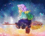alice_margatroid backpack bag blonde_hair broom broom_riding chimera chimerism colorful fujiwara_no_mokou fusion hat kawashiro_nitori kirisame_marisa patchouli_knowledge profile sada_noriko solo sunata touhou