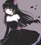 1girl bangs bare_shoulders black_hair blunt_bangs choker dress elbow_gloves gloves gokou_ruri gothic_lolita hime_cut lolita_fashion long_hair ore_no_imouto_ga_konna_ni_kawaii_wake_ga_nai sleeveless sleeveless_dress takatsuki_akira