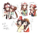 6+girls aqua_shirt baseball_cap beanie black_hair blue_(pokemon) blue_eyes blush braid brown_eyes brown_hair closed_eyes double_bun hands_clasped hat hat_ribbon heart hug kotone_(pokemon) long_hair mei_(pokemon) mizuki_(pokemon_sm) mizuki_(pokemon_ultra_sm) multiple_girls open_mouth orange_shirt overalls own_hands_together pokemon pokemon_(game) pokemon_bw pokemon_bw2 pokemon_frlg pokemon_hgss pokemon_sm pokemon_ultra_sm ponytail raglan_sleeves red_hat ribbon shirt short_hair short_sleeves simple_background sleeveless sleeveless_shirt sun_hat tank_top touko_(pokemon) twin_braids twintails unadayoo00 vest visor_cap white_background white_shirt wristband