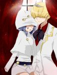 1boy 1girl bad_id bad_pixiv_id belphegor_(reborn) blonde_hair formal hair_over_eyes hat katekyo_hitman_reborn mammon_(reborn) miao smile suit tiara