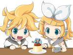 :< angry animated animated_gif chibi gif hachune_miku hatsune_miku kagamine_len kagamine_rin loituma mameshiba minigirl o_o poke poking pudding spring_onion vocaloid
