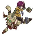 1boy 1girl chrono_trigger full_body glasses helmet highres lucca_ashtear robo short_hair yamamoto_souichirou