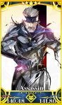 1boy bandanna blood card_(medium) cigarette fate/grand_order fate_(series) highres ikuyoan metal_gear_(series) metal_gear_solid_4 old_snake parody power_armor shinkawa_youji_(style) solid_snake style_parody