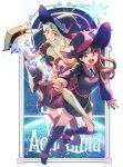 2girls boyaking diana_cavendish hat kagari_atsuko little_witch_academia multiple_girls smile witch witch_hat