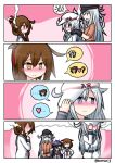 10s 4koma 5girls akatsuki_(kantai_collection) aura comic dark_aura gangut_(kantai_collection) hibiki_(kantai_collection) highres ikazuchi_(kantai_collection) inazuma_(kantai_collection) kantai_collection multiple_girls raythalosm remodel_(kantai_collection) twitter_username verniy_(kantai_collection)