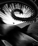 centipede dated debris emphasis_lines greyscale highres monochrome monster mukade_chourou no_humans one-punch_man signature solo xiniu_r&f_(lande_hua_hua)