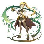 1girl blonde_hair green_eyes highres leafa long_hair official_art ponytail sword_art_online sword_art_online:_memory_defrag transparent_background