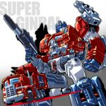 1boy 80s armor autobot beam_rifle blue_eyes cannon character_name energy_gun ginrai_(transformers) glowing glowing_eyes gun headgear insignia kouichi_(kouichi-129) looking_at_viewer machinery no_humans oldschool personification pose simple_background solo standing transformers transformers_super-god_masterforce weapon white_background