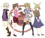 akkirarara bad_id bad_pixiv_id braid madotsuki multiple_girls pink_shirt purple_skirt shirt short_hair skirt twin_braids yume_nikki