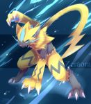claws highres ivan_(ffxazq) pokemon pokemon_(creature) pokemon_(game) pokemon_sm striped whiskers yellow_fur zeraora