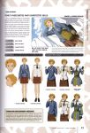 1girl absurdres character_name character_sheet clouds freckles hair_ornament hairclip highres honjou_raita miniskirt necktie official_art open_mouth orange_hair rene_randall school_uniform senjou_no_valkyria senjou_no_valkyria_2 short_hair skirt sky solo