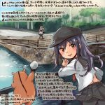 2girls akatsuki_(kantai_collection) animal black_hat black_skirt breasts colored_pencil_(medium) commentary_request dated flat_cap hair_between_eyes hamster hat hibiki_(kantai_collection) kantai_collection kirisawa_juuzou large_breasts long_hair multiple_girls non-human_admiral_(kantai_collection) numbered pleated_skirt purple_hair remodel_(kantai_collection) school_uniform serafuku silver_hair skirt smile traditional_media translation_request twitter_username verniy_(kantai_collection) violet_eyes