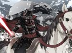 6+boys armor army at-at cape darth_vader energy_sword full_armor holding holding_sword holding_weapon horse multiple_boys nyoronyoro riding snow star_wars stormtrooper sword weapon