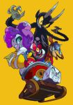 1girl 30s beppi_the_clown breasts cala_maria_(cuphead) clown cuphead_(game) king_dice looking_at_viewer mermaid monster_girl navel niking open_mouth rat smile tentacle_hair the_devil_(cuphead) werner_werman