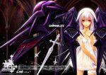 armor kidou_senkan_nadesico kidou_senkan_nadesico_-_prince_of_darkness lin+ mecha mecha_musume musume nadesico purple_eyes purple_hair sword weapon