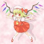 bonnet breasts flandre_scarlet hat large_breasts oppai_loli over_hundred red_eyes ribbon short_hair touhou wings