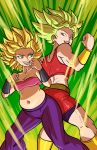 2girls absurdres aqua_eyes ass-to-ass aura axel_rosered back back-to-back back_view baggy_pants bandeau bare_arms bare_shoulders belly belt biceps big_hair bike_shorts black_shorts blonde_hair bracer breasts brown_belt caulifla cleavage clenched_hands collarbone cowboy_shot crop_top dragon_ball dragon_ball_super ear_piercing earrings explosion eyebrows eyelashes fat_folds fighting_stance floating_hair height_difference highres impossible_clothes jewelry kale_(dragon_ball) legs_apart lips looking_at_another love_handles medium_breasts midriff miniskirt muffin_top multiple_girls muscle muscular_female navel open_mouth pants piercing pink_bandeau plump power-up purple_pants red_shirt red_skirt saiyan shin_guards shiny shiny_clothes shiny_skin shirt shorts shorts_under_skirt simple_background size_difference skindentation skirt smile spiky_hair standing stomach strapless student super_saiyan super_saiyan_2 teacher teacher_and_student teeth thick_thighs thighs thin_waist toned tongue tubetop vambraces