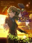 1girl diana_cavendish english formal hat highres little_witch_academia outstretched_hand suit sunset