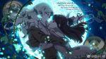 2girls diana_cavendish english full_moon highres kagari_atsuko kannazuki_no_miko little_witch_academia miko_embrace moon multiple_girls parody yuri