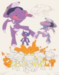 explosion feille fire genesect no_humans pokemon pokemon_(creature) pokemon_(game) pokemon_bw sableye sentai