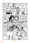 6+girls agano_(kantai_collection) aquila_(kantai_collection) arashio_(kantai_collection) ark_royal_(kantai_collection) arm_warmers asashio_(kantai_collection) black_hair bob_cut checkered checkered_kimono comic commentary crown double_bun dress eyewear_on_head flower fubuki_(kantai_collection) fur-trimmed_sleeves fur_trim graf_zeppelin_(kantai_collection) greyscale hair_flower hair_ornament hat high_ponytail ikazuchi_(kantai_collection) japanese_clothes kantai_collection kimono kunashiri_(kantai_collection) long_sleeves low_ponytail matsuwa_(kantai_collection) michishio_(kantai_collection) mini_crown mizumoto_tadashi monochrome multiple_girls non-human_admiral_(kantai_collection) off-shoulder_dress off_shoulder ooshio_(kantai_collection) peaked_cap pinafore_dress red_ribbon ribbon richelieu_(kantai_collection) scarf school_uniform serafuku shimushu_(kantai_collection) shirt short_ponytail short_sleeves short_twintails sidelocks skirt sleeveless sleeveless_dress sunglasses suspenders tiara translation_request twintails warspite_(kantai_collection) white_shirt yukata