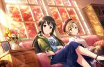 2girls idolmaster idolmaster_cinderella_girls multiple_girls nakano_yuka tada_riina tagme