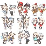 2girls alternate_costume animal_ears bikini black_legwear blonde_hair bunny_tail bunnysuit cat_ears cat_tail cheerleader chibi cymbals drinking_straw eila_ilmatar_juutilainen elbow_gloves food fox_ears fox_tail french_horn gloves hand_holding hat hirschgeweih_antennas hood hoodie ice_cream ice_cream_float instrument japanese_clothes juggling kinakomoti looking_at_viewer marching_band midriff military military_uniform multiple_girls navel open_mouth panties pantyhose pleated_skirt pom_poms rabbit_ears salute sanya_v_litvyak side-tie_bikini silver_hair skirt strike_witches striped striped_legwear swimsuit tail thigh-highs underwear uniform white_legwear world_witches_series wrist_cuffs